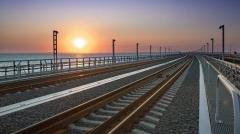 Открытие железнодорожной части Крымского моста. Прямая трансляция