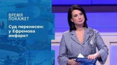Время покажет. Суд Михаила Ефремова: заседание перенесено от 12.08.2020