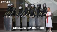Дождь. «Марш против фашизма» в Беларуси: тысячи людей, задержания и перекрытые улицы от 22.11.2020