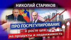 Николай Стариков. Про госрегулирование – о росте цен на продукты и недвижимость от 25.12.2020