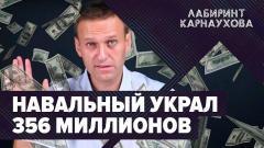 Срочно! Новое уголовное дело Навального. ФБК присвоил 356 млн рублей. Лабиринт Карнаухова