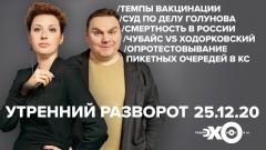 Утренний разворот. Фельгенгауэр и Плющев. Солодников, Волков, Смирнов, Беркун от 25.12.2020