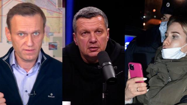 Соловьёв LIVE 28.12.2020. Представляете, какой был бы вопль в СМИ: Соловьев остро отреагировал на задержание Соболь