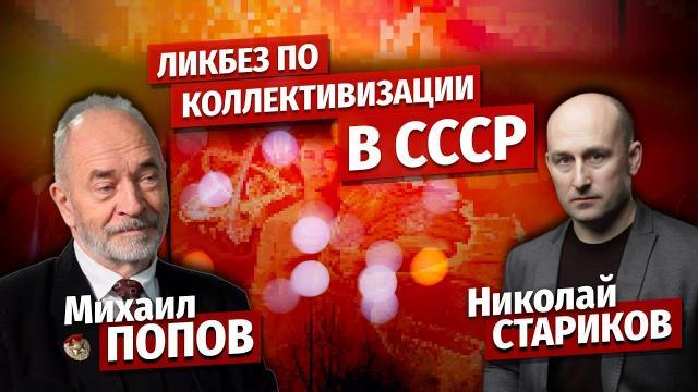 Николай Стариков 09.01.2021. Михаил Попов: ликбез по коллективизации в СССР