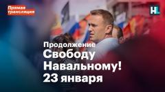 Навальный LIVE. Свободу Навальному! Прямая трансляция. Продолжение от 23.01.2021