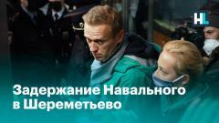 Задержание Навального в Шереметьево