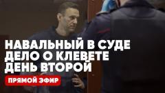 Навальный в суде. Дело о клевете. День второй. Прямой эфир