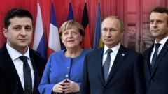Нормандский формат без Зеленского. Что обсуждали Путин, Меркель и Макрон на переговорах