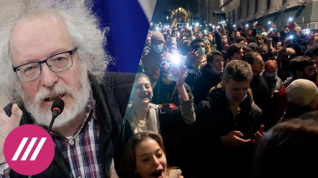 Телеканал Дождь 27.04.2021. «В Кремле хотят, чтобы митинги показывали поменьше»: Венедиктов о задержаниях журналистов