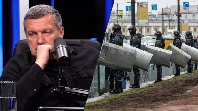 """Соловьёв LIVE 25.04.2021. """"Все, что сейчас происходит - сплошная провокация"""": провальный протест и """"голодовка"""" Навального"""