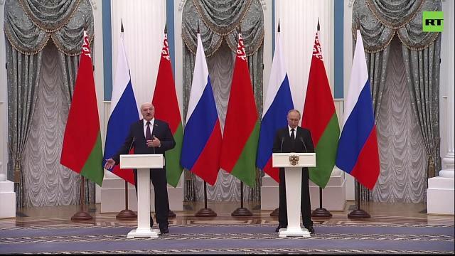 Видео 09.09.2021. Пресс-конференция Путина и Лукашенко по итогам переговоров
